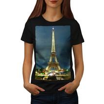 Night Eiffel Tower Paris Shirt France Night Women T-shirt - $12.99