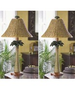 2 LAMPS Log Cabin 25in Tall Table Lamp Set - $72.14