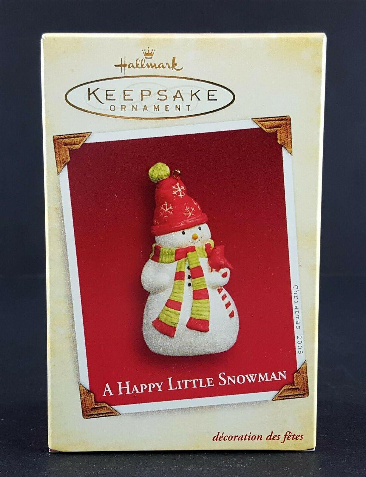 Hallmark Ornament A Happy Little Snowman 2005