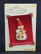 Hallmark Ornament A Happy Little Snowman 2005 - $8.90