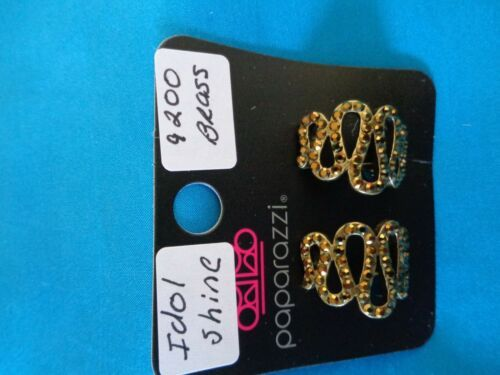 Paparazzi Clip-On Earrings (new) Idol Shine/Brass 9200 - $8.58