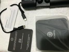 Rowkin Ascent Charge+ True Wireless Bluetooth Earbuds Headphones, Black, Refurb