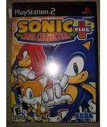 Sonic Mega Collection Plus Complete Ps2 CIB Black Label Playstation 2 - $10.88