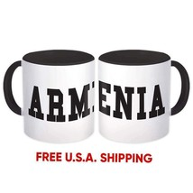 Armenia : Mug Flag College Script Calligraphy Country Gift Armenian Expat - $13.76+