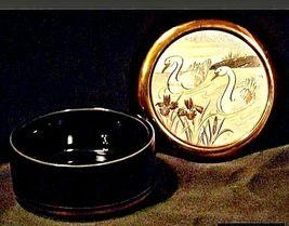 Vintage Swan Trinket/ JewelryBox 24 kt gold AA19-1408 image 3