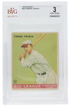 Frankie Frisch 1933 Goudey St. Louis Cardinals Baseball Card BGS VG 3 - $791.99