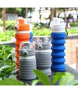 Collapsible Water Bottles Food Grade Silicone Material 500ml Eco Friendl... - $17.96