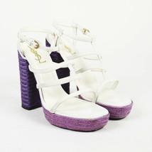 Yves Saint Laurent Leather Jute Platform Sandals SZ 40 - $156.00