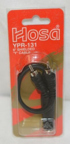 Hosa Technology YPR131 6 Inch Shielded Y Cable Mono Phone Jack To Two RCA Plugs