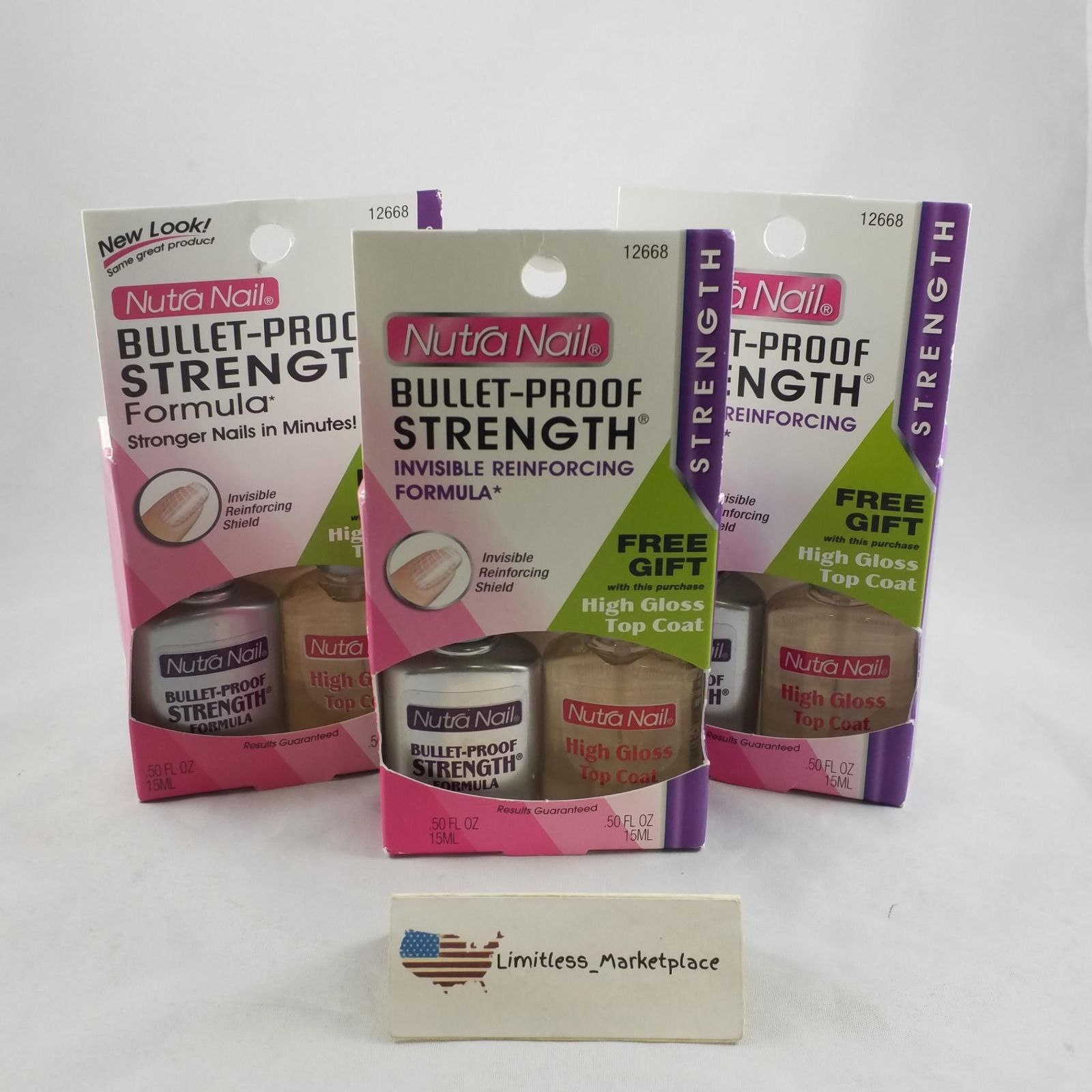 3 Pack!)Nutra Nail Bullet-Proof Strength and 50 similar items