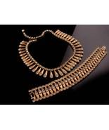 Cleopatra Necklace & bracelet - rhinestone choker - vintage collar - cos... - $110.00