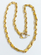 """Anne Klein Couture Heavy Gold Plated Large Link Necklace Toggle Clasp 24""""L - $71.28"""