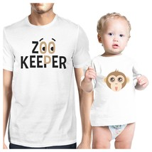 Zoo Keeper Monkey Dad and Baby Matching White Shirt - $29.99+
