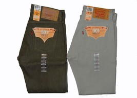 Levis 501 Shrink to Fit Rigid Men's Jeans Size 31 x 32 Lot of 2 Green Si... - $44.10+