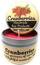 Cranberries 4oz All Natural Soy Candle Tin (Take It Any Where) Made in USA - $7.43