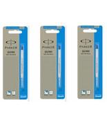 3 x Parker Quink Flow Ball Point Pen Refills BallPen Blue Medium New Sealed - $6.49