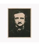 Mounted Rubber Stamp, Poe, Edgar Allan Poe, The Raven, Poet, Halloween, ... - $9.50