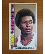 1976-77 TOPPS  #101 MOSES MALONE  Blazers 2nd Card - $12.38