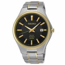 Seiko Men's Two Tone Titanium Solar Watch SNE382 - $233.74