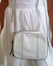 Fossil Leather Ivory Color Crossbody Handbag - $28.00