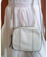Fossil Leather Ivory Color Crossbody Handbag - $28.00