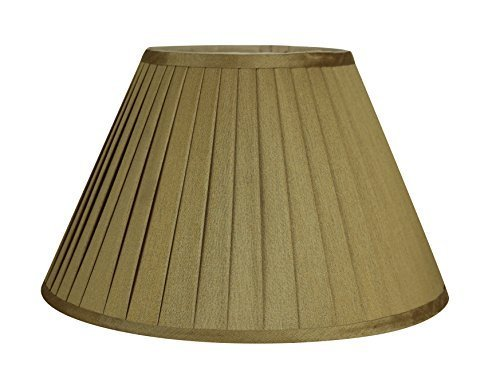 Urbanest Softback Side Pleat Lampshade, Faux Silk, 7-inch by 14-inch by 9-inch,  image 3