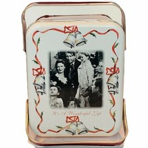 It's a Wonderful Life tin basket Christmas holiday box Donna Reed James ... - $28.98