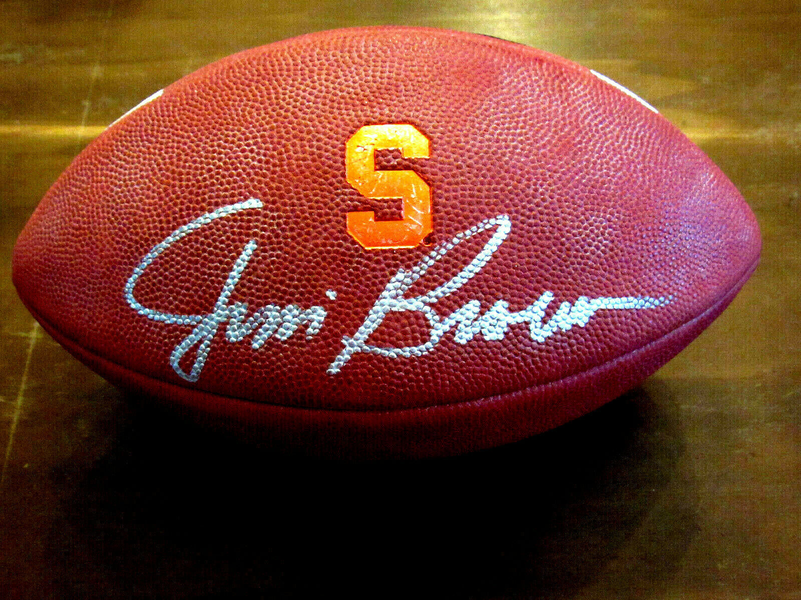 Primary image for JIM BROWN SYRACUSE UNIVERSITY HOF SIGNED AUTO NIKE 3005 GAME FOOTBALL STEINER