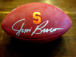 JIM BROWN SYRACUSE UNIVERSITY HOF SIGNED AUTO NIKE 3005 GAME FOOTBALL ST... - $494.99