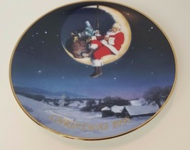Greetings from Santa 1998 Christmas Plate Avon Ernie Norcia 22k Gold Trim - $8.80