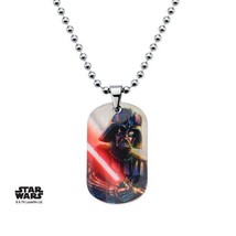 Disney Star Wars  Stainless Steel Graphic Darth Vader Kids Dog Tag Penda... - $17.85