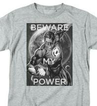 Green Lantern T-shirt DC comic book Justice League superhero grey tee DCO828 image 1