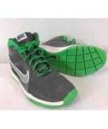 NIKE Youth Team Hustle Nike Basketball Sneakers Green/Gray Size: 6.5Y - $21.14