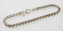 "Tiffany & Co.Argent Sterling Vénitienne Bracelet Lien 7.25 "" Long - $148.49"