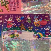 Vintage Lisa Frank  Holiday Sticker Sheet & Incomp. Mods CHRISTMAS! FLAMINGLE! image 3