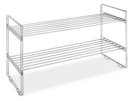 Whitmor 2 Tier Stackable Closet Shelves - Chrome - $35.95