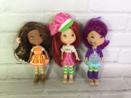 Hasbro Strawberry Shortcake Orange Plum Small Dolls Lot of 3 With Outfit... - $22.17