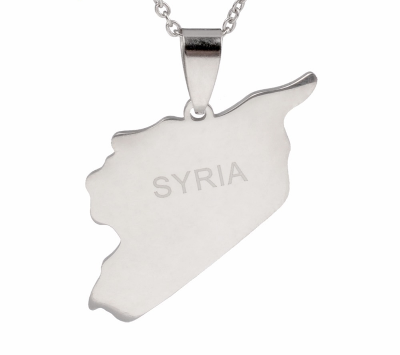 Primary image for Syria Map Necklaces 316 Stainless Steel Charms Pendant Necklaces