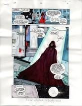 Original 1999 JLA 26 color guide art page:Superman/Wonder Woman/Aquaman/... - $39.59