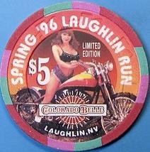 $5 Casino Chip. Colorado Belle, Laughlin, NV. Spring Run 1996. O64. - $6.50