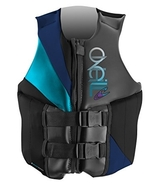O'Neill Wake Waterski Women's Money USCG Vest  (Black/Navy/Turquoise, 12) - $104.99