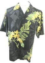 TOMMY BAHAMA Men Hawaiian ALOHA shirt pit to pit 23.5 M silk floral camp luau - $34.64