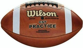 New Authentic Wilson 1233 Gst Collegiate Official Ncaa Practice Leather Football - $213.73