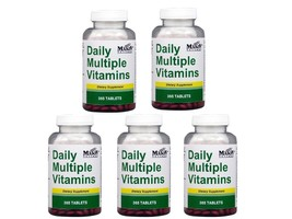 PACK 5 X 365 TABLETS DAILY MULTIPLE VITAMINS ONE A DAY DIETARY SUPPLEMEN... - $39.55