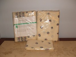 NIP VINTAGE SEARS POSEY PARADE FULL  SHEET SET,FLAT,FITTED 2 PILLOWCASES... - $54.44