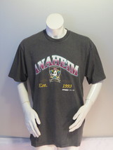Anaheim Mighty Ducks Shirt (VTG) - Stipe Pattern with Script by Trench -... - $49.00