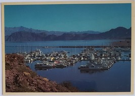 Colorful Marina on Lake Mead on Route 41 Nevada vintage Postcard - $2.95