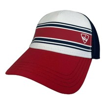 Callaway Stripe Mesh Cap (White/Navy/Red) Adjustable SnapBack 2017 Golf Hat NEW - $14.95