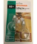 60w 'Sylvania' Ceiling Fan Light Bulbs   2 x A15 Bulbs   SMALL Base-SHIP... - $5.82