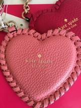 Kate Spade %Authentic CRLNA CORAL Heart Shape Key Chain Fob NWT - $34.99